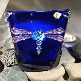 Cobalt Dragonfly Night Light #2