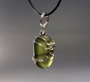 Mossy Olive Pendant