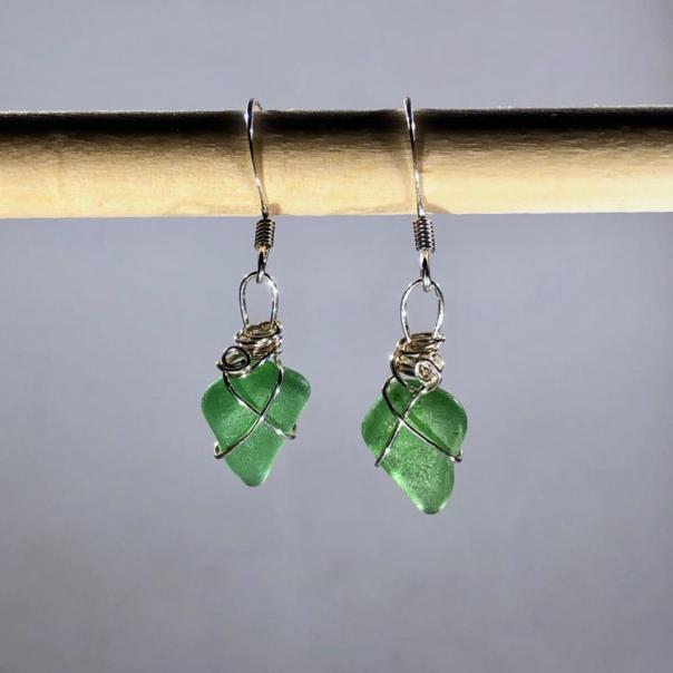 Sterling hook earrings