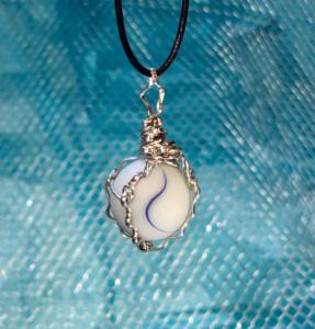 Sea Marble in Sterling Silver